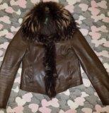 Кожаная куртка с мехом. Фото 1.