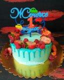 Торт с ягодками. Фото 1.