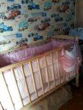 Кроватка детская в комплекте. Фото 1.