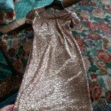 Платье расшитое пайетками. Фото 1.