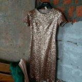 Платье расшитое пайетками. Фото 2.
