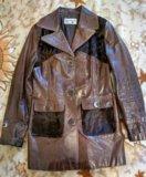 Куртка пиджак, натуральная кожа. Фото 1.
