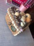 Шкатулка для украшений(из натуральных ракушек). Фото 1.