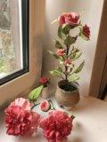 Ручная работа (handmade) цветы из японской глины. Фото 2.
