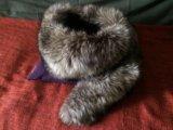 Воротник . мех чернобурки. Фото 1.