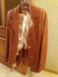 Кожаная куртка с мехом лисы. Фото 4.