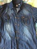 Рубашка джинсовая мужская 48-50р. Фото 1.