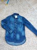 Рубашка джинсовая h&m. Фото 2.