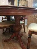 Стол и стулья в комплекте. Фото 3.