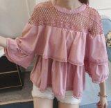 Женская блузка с воланом. Фото 1.