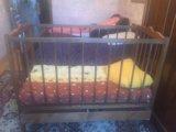 Детская кроватка, с матрасом.. Фото 1.