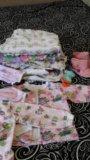 Пакет пеленок и вещи от 6мес до 1 года. Фото 2.