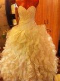 🌸пышное свадебное платье. Фото 1.