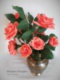 Конфетный букет - чайные розы. Фото 1.