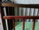 Кроватка детская с матрасом. Фото 2.