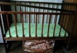 Кроватка детская с матрасом. Фото 1.