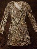 🐆тепленькое леопардовое платье. Фото 1.