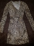 🐆тепленькое леопардовое платье. Фото 3.