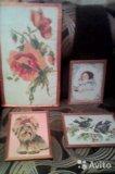 Продам картины- вышивки крестиком, ручная работа. Фото 1.