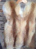 Меховой жилет из лисы. Фото 2.