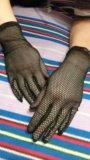 Перчатки черные сеточка (новые). Фото 1.