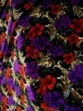 Ткань для шитья бархат цветной. Фото 1.