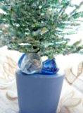 Зеленая ель из бисера. Фото 4.