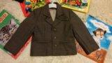 Пиджак коричневый 2-3 года. Фото 1.