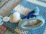 Новая шапочка зимняя двойная на меху 0 -6  мес. Фото 2.