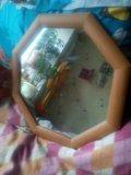 Зеркало в деревянной рамке. Фото 1.
