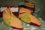 Носки тапочки ручная вязка. Фото 2.