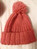 Шапка и шарф befree насыщенный персиково-розовый. Фото 1.