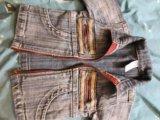 Курточка джинсовая на малыша. Фото 3.