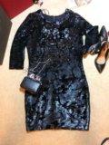Платье вечернее в пайетках mohito. Фото 1.