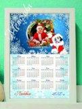 Календарь, коллаж, новогодняя открытка). Фото 2.