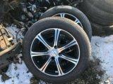 Литые диски r15 с летней резиной. Фото 1.