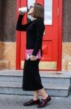Платье длинное трикотажное. Фото 4.