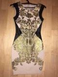 Платье золотое женское. Фото 1.