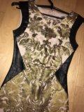Платье золотое женское. Фото 2.