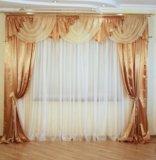 Готовые шторы с ламбрикеном. Фото 2.