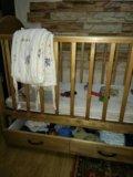 Детская кроватка с матрасом. Фото 4.