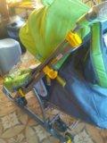 Новая коляска-санки ника детям 7 тигр салатовый. Фото 2.