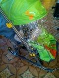 Новая коляска-санки ника детям 7 тигр салатовый. Фото 3.