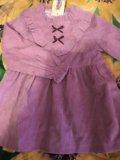 Вельветовое детское платье. Фото 1.