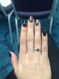 Кольцо с сапфиром и бриллиантами. Фото 4.