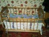Детская кроватка с матрасом в разобраном виде . Фото 4.