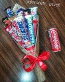 Сладкий букет. букет из конфет. Фото 3.