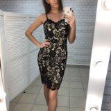 Платье кружевное чёрное. Фото 1.