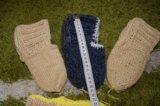 Носки тапочки ручная вязка. Фото 1.
