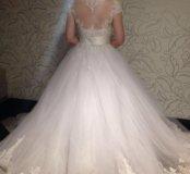 Свадебное платье трансформер,кринолин,перчатки.